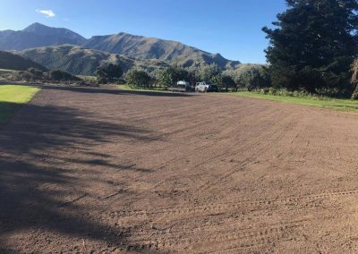 Re-shape and re do lawn after earthquake damage - Kekerengu