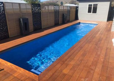 Swimming pool garapa deck and screening